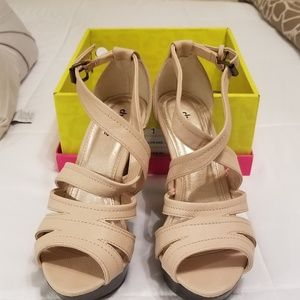 CR Nude Wedges